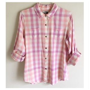 The North Face Gingham Paid Top